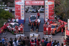 Il podio del 18° Rally del Vermentino